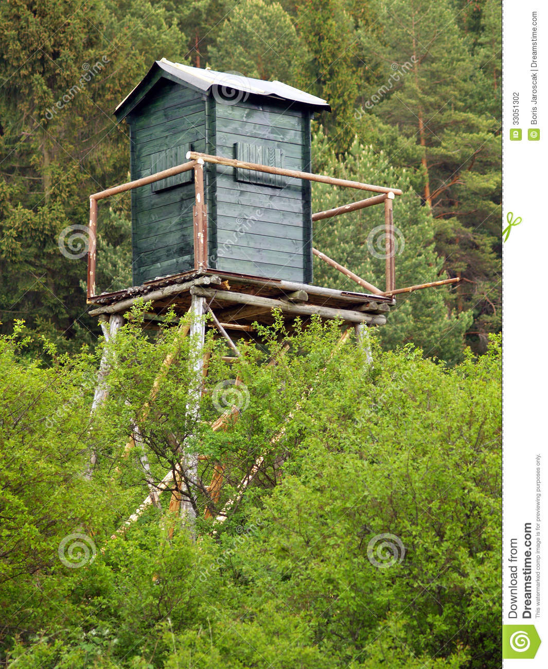 Watch tower in deep forest