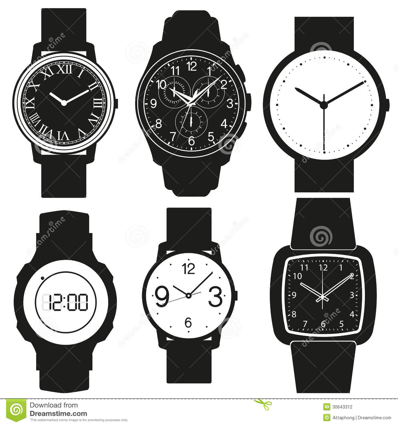 Watch vector stock vector. Illustration of dial, concept ...