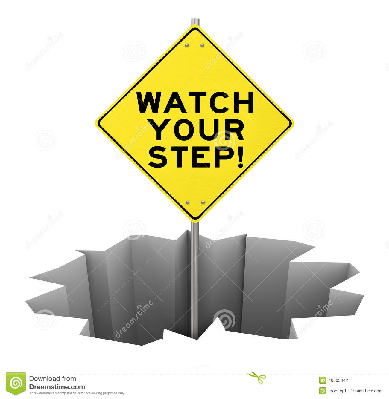 photo about Printable Watch Your Step Sign identify Check Your Move Caution Indication Gap Chance Likelihood Mitigation