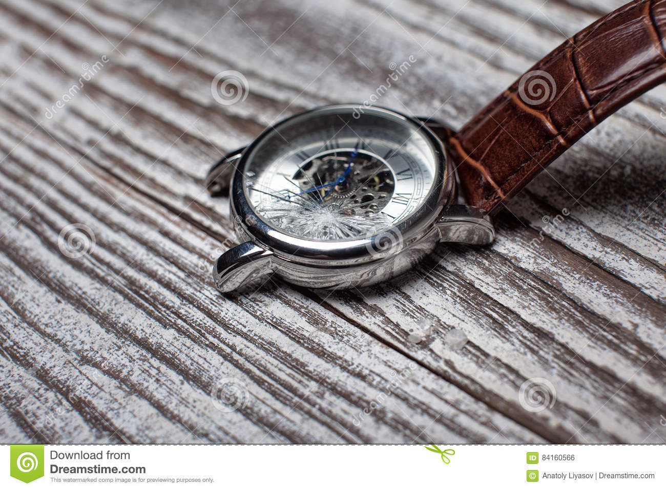 Watches with cracked glass