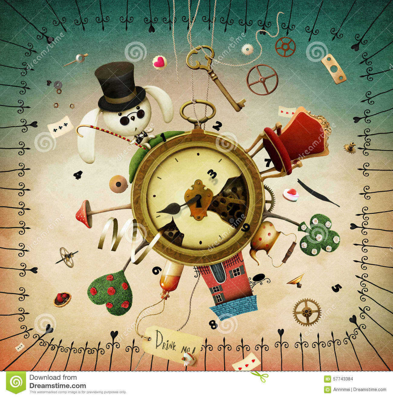 Watches With Fabulous Items Stock Illustration Image