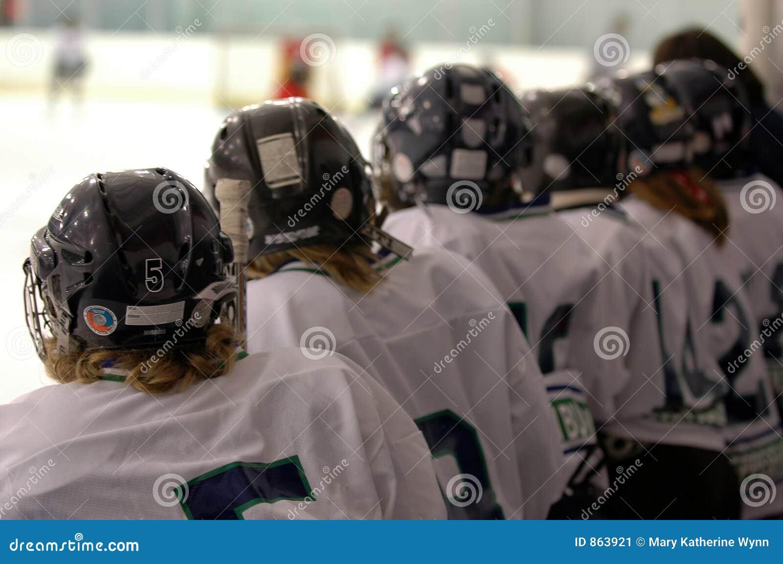 Watching the hockey game