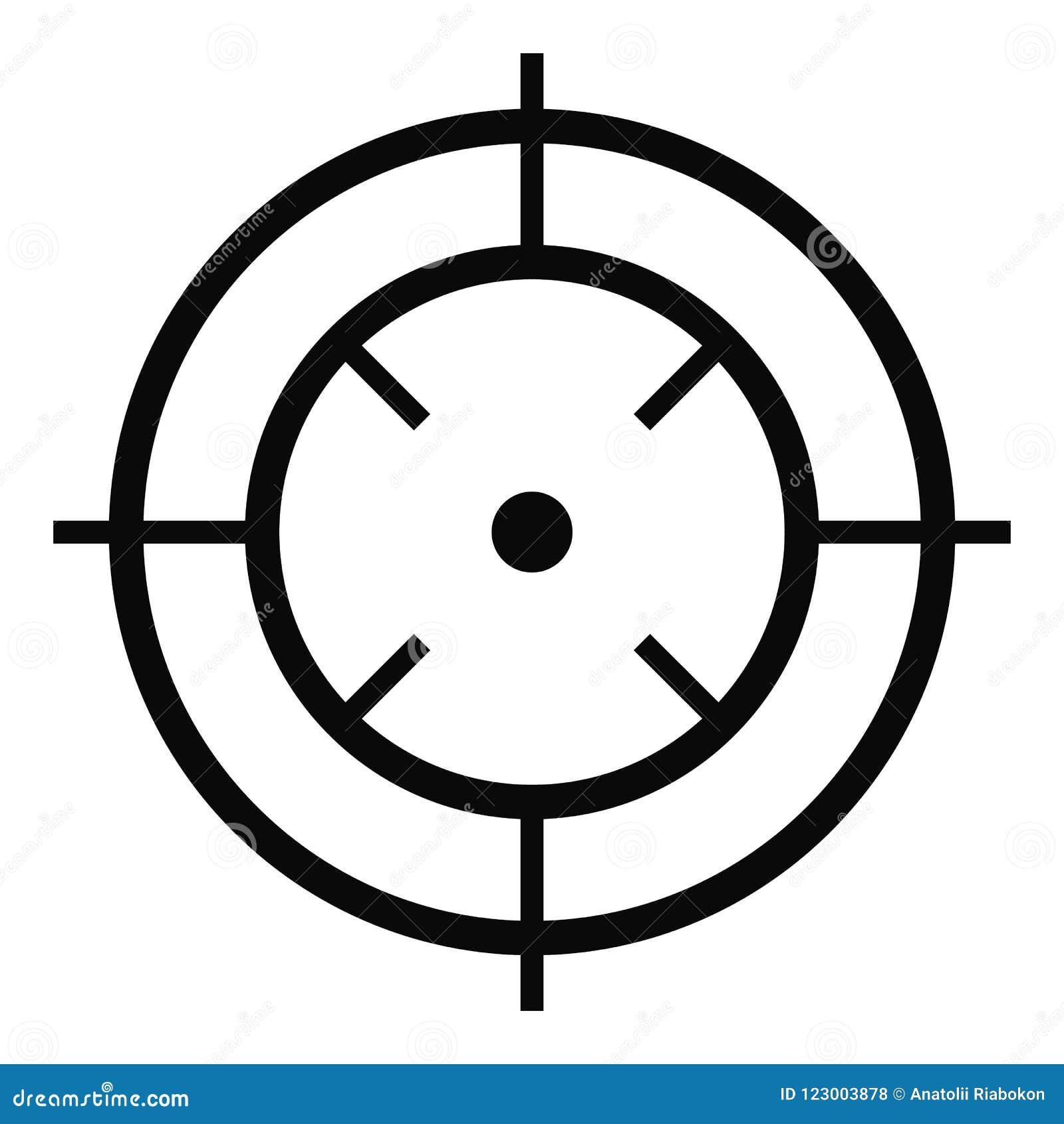 Watching Of Radar Icon Simple Style Stock Illustration