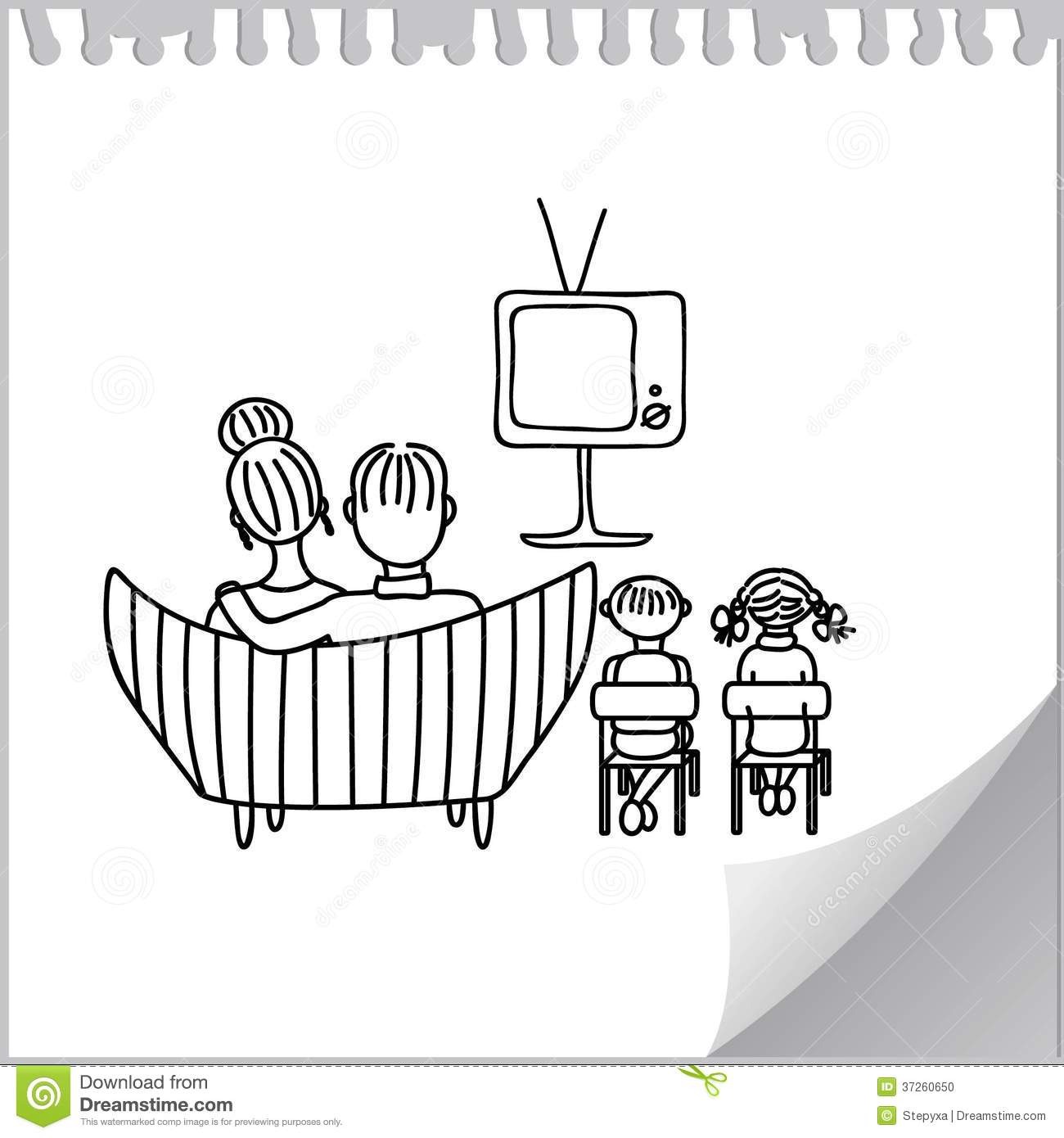 Program To Draw Floor Plans Watching Tv Stock Photo Image 37260650