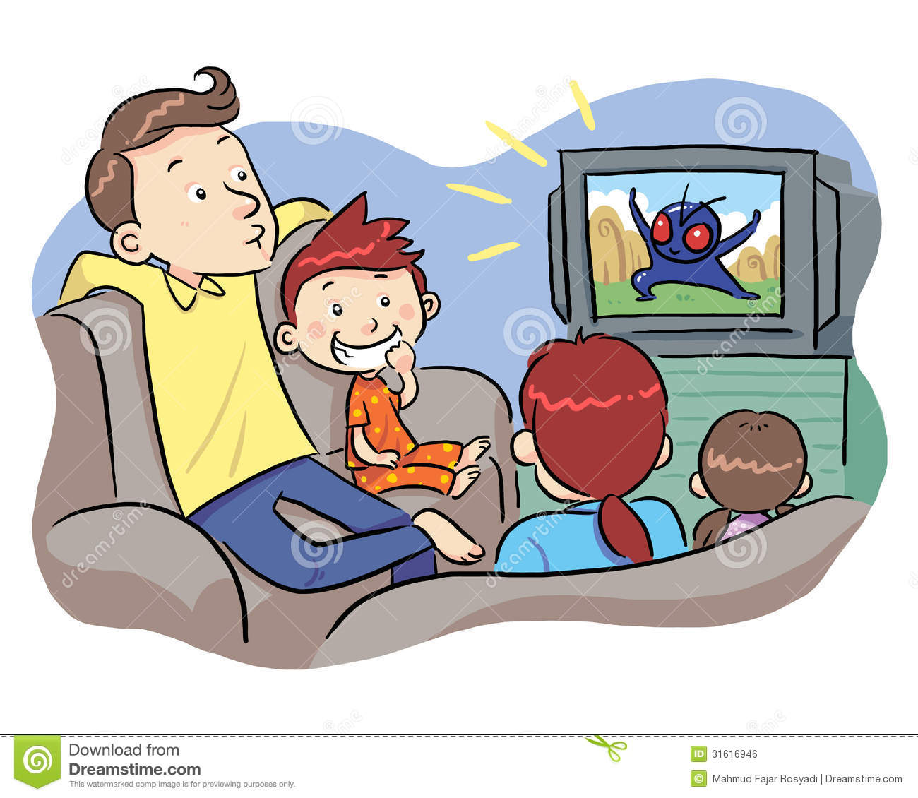 clipart boy watching tv - photo #41