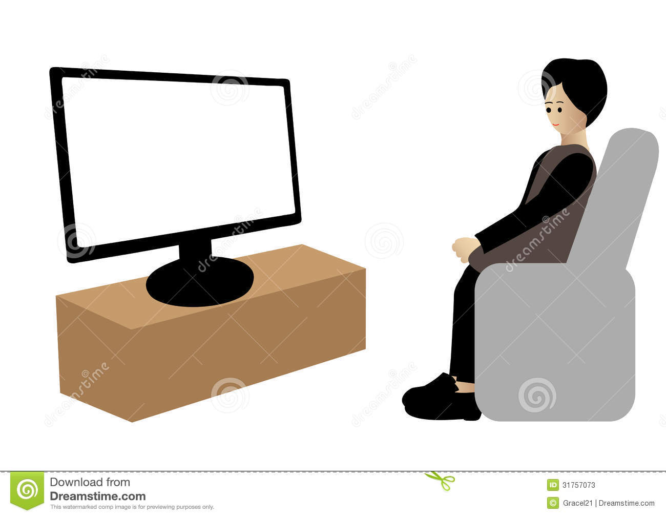 clipart boy watching tv - photo #17