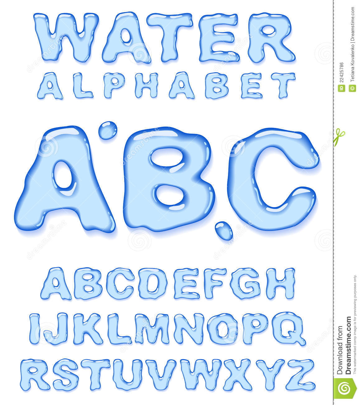 Water Alphabet. Royalty Free Stock Image - Image: 22425786