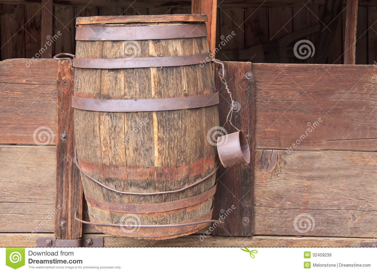 Water Barrel On Wagon Royalty Free Stock Images Image