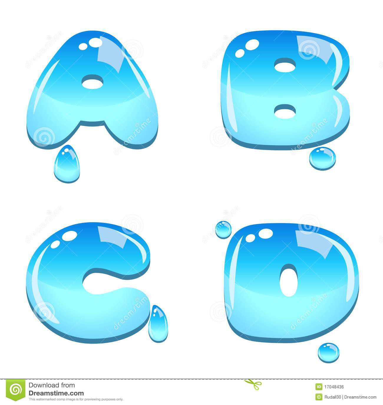 Water Bead Font Type Royalty Free Stock Image - Image: 17048436