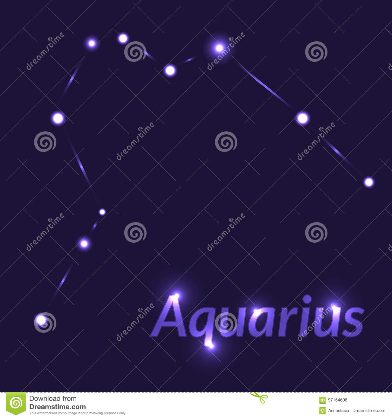 The Water Bearer Aquarius Sing Star Constellation Element Age Of