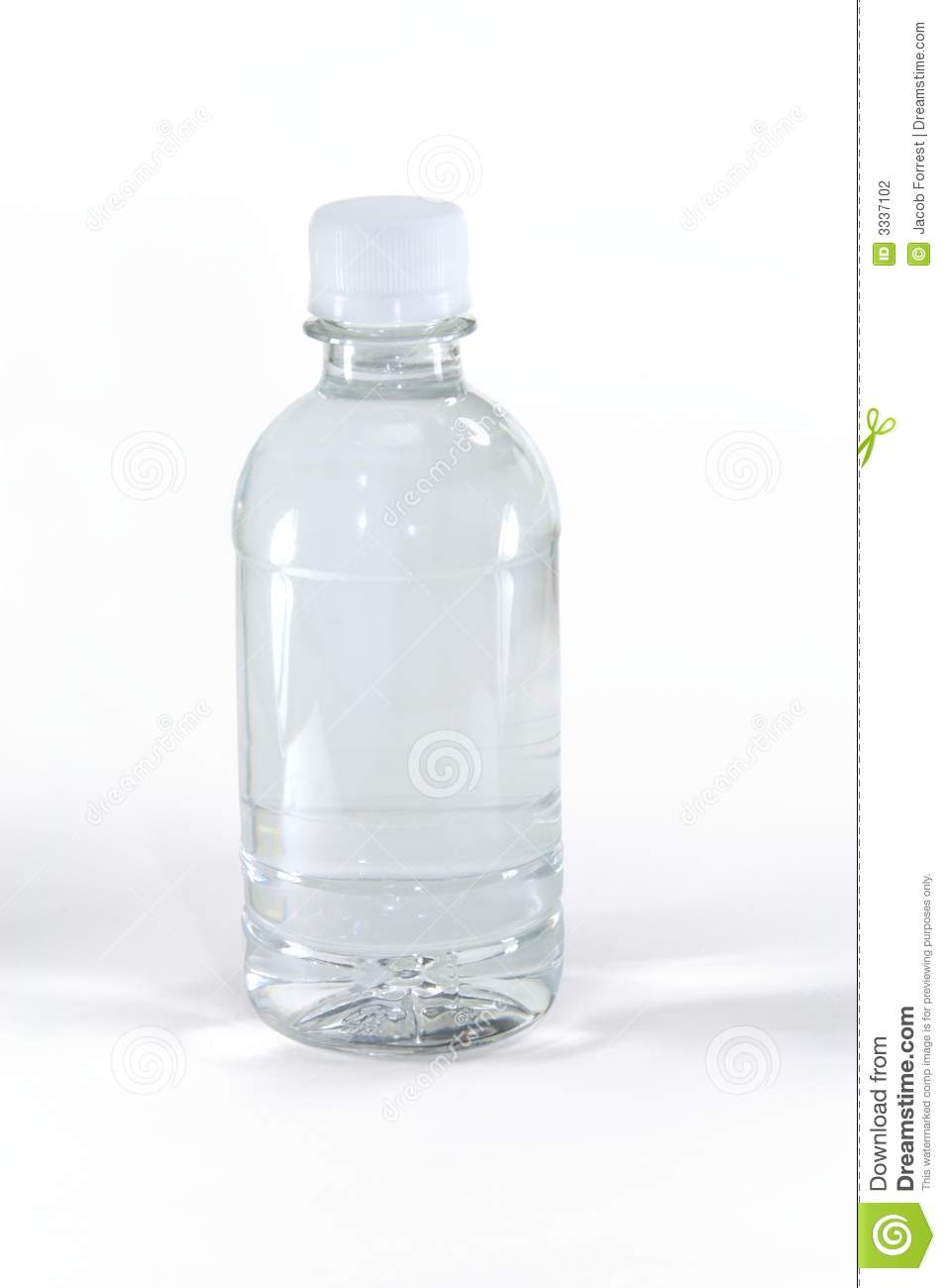 Water Bottle With No Label Stock Photography - Image: 3337102