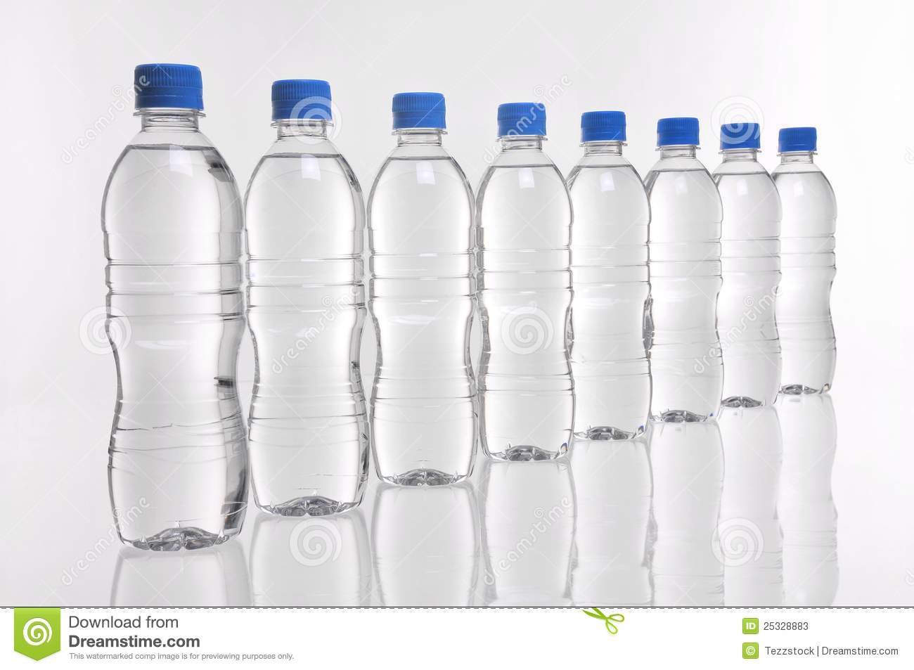 Water Bottles In A Line Stock Photos Image 25328883