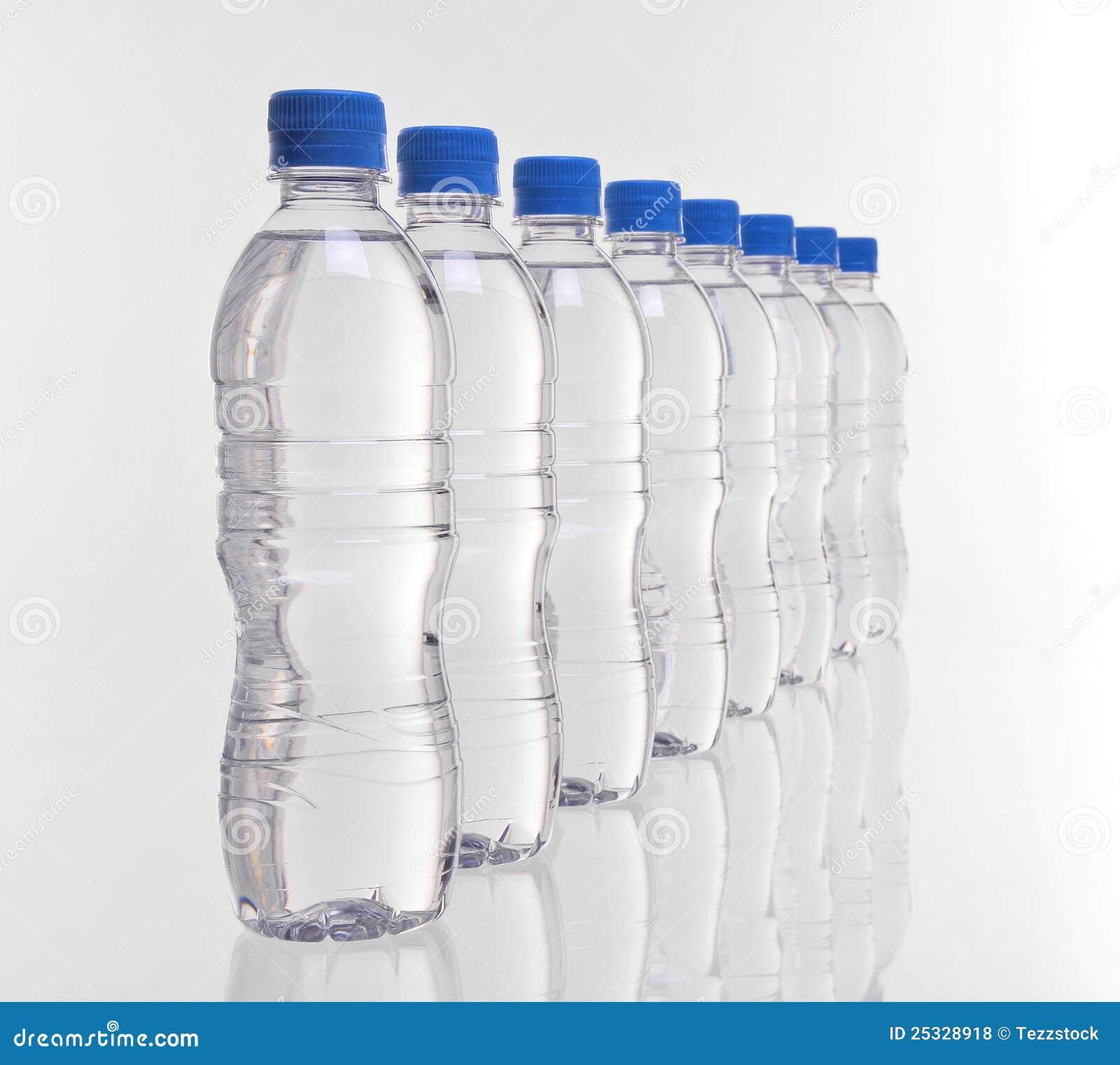 Water Bottles Row Royalty Free Stock Photos Image 25328918