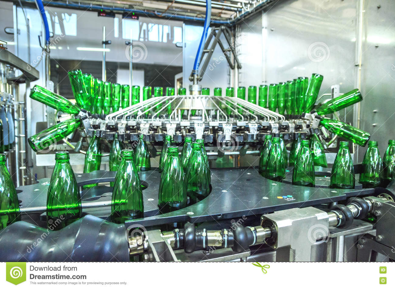 Water Bottling Plant Stock Photo Image Of Group Beverage