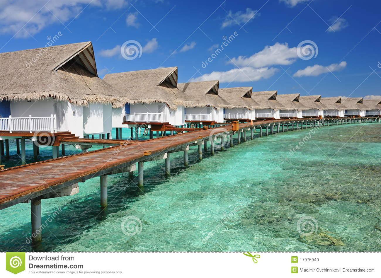 Water Bungalows Stock Photo Image Of Bungalow