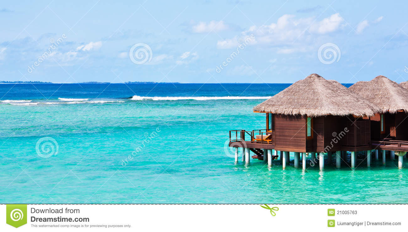 Water Bungalows In Maldives Stock Photos - Image: 21005763