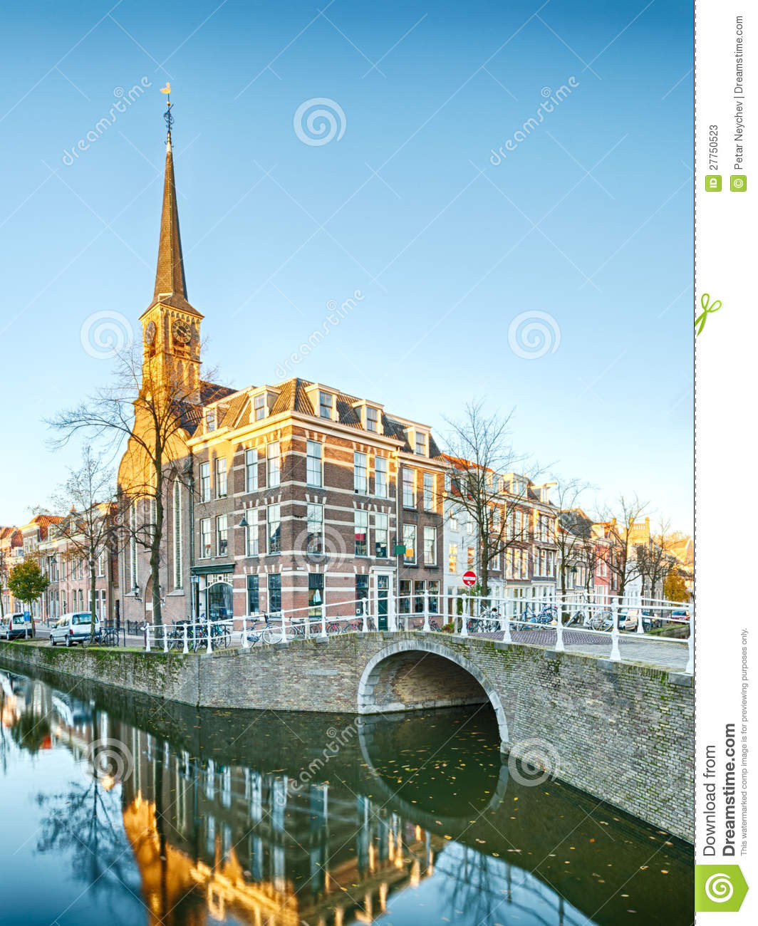 A Water Canal And A Tower In Holland Stock Photos Image 27750523