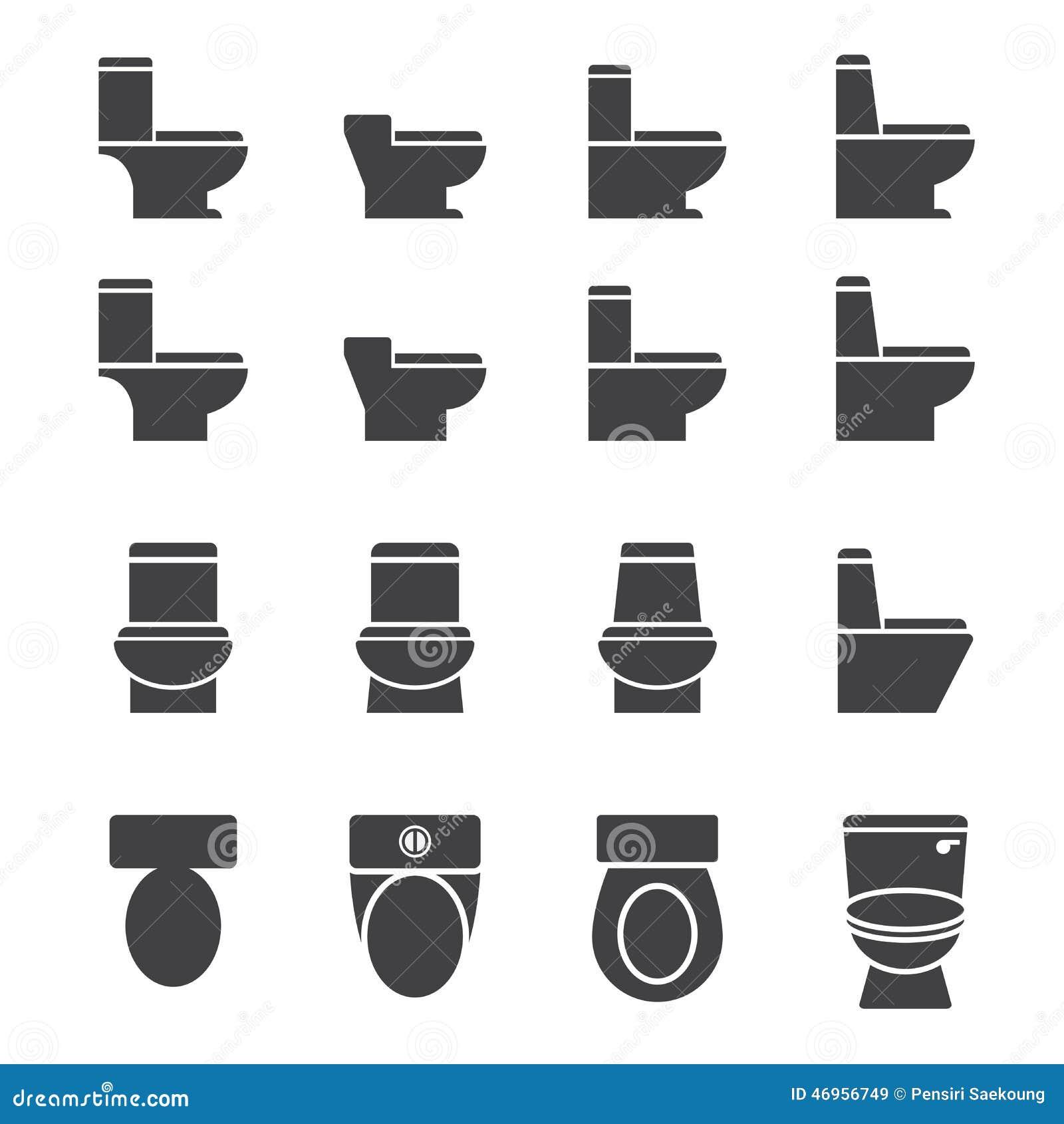 Water closet icon set stock vector image 46956749 for Closet icon