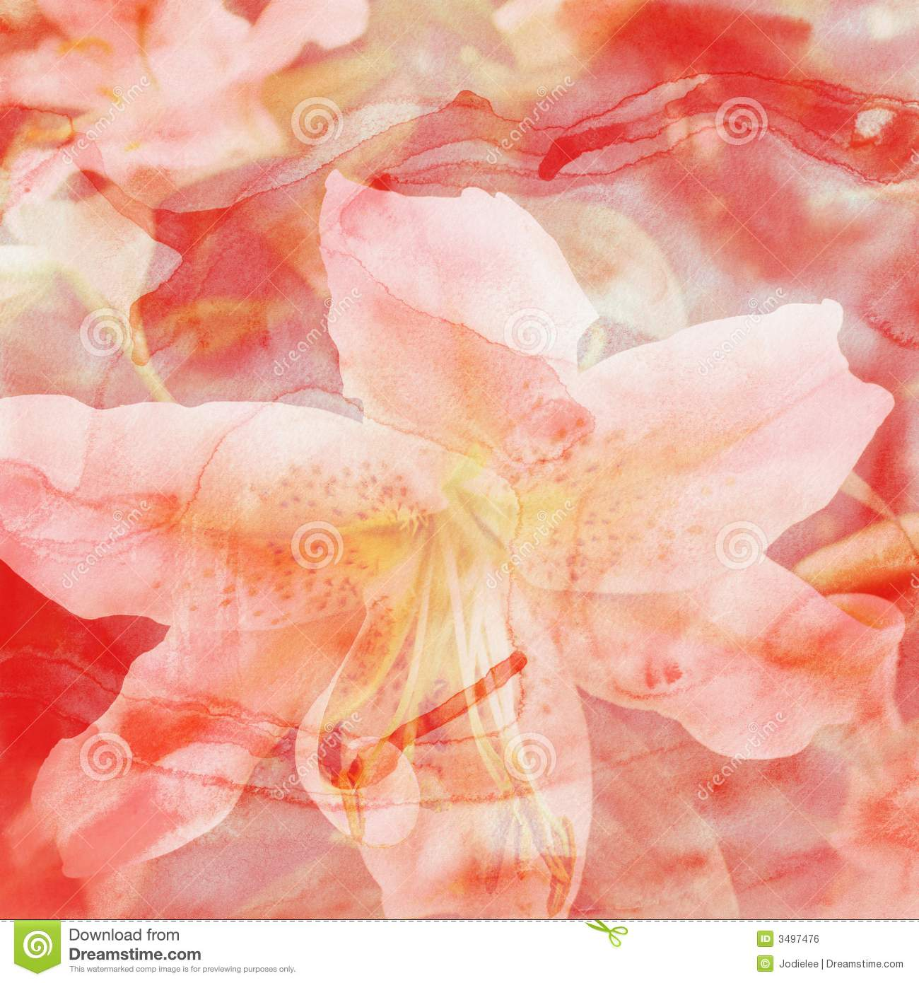 Water Color Flower Background