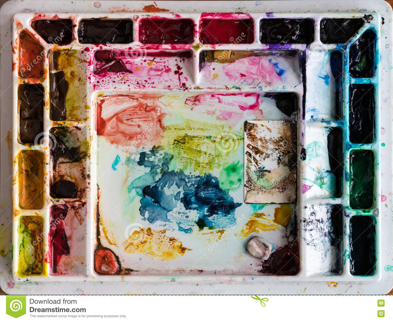 Artists Paint Palette Mixing Coloring Palette Tray for Watercolour Oil Painting