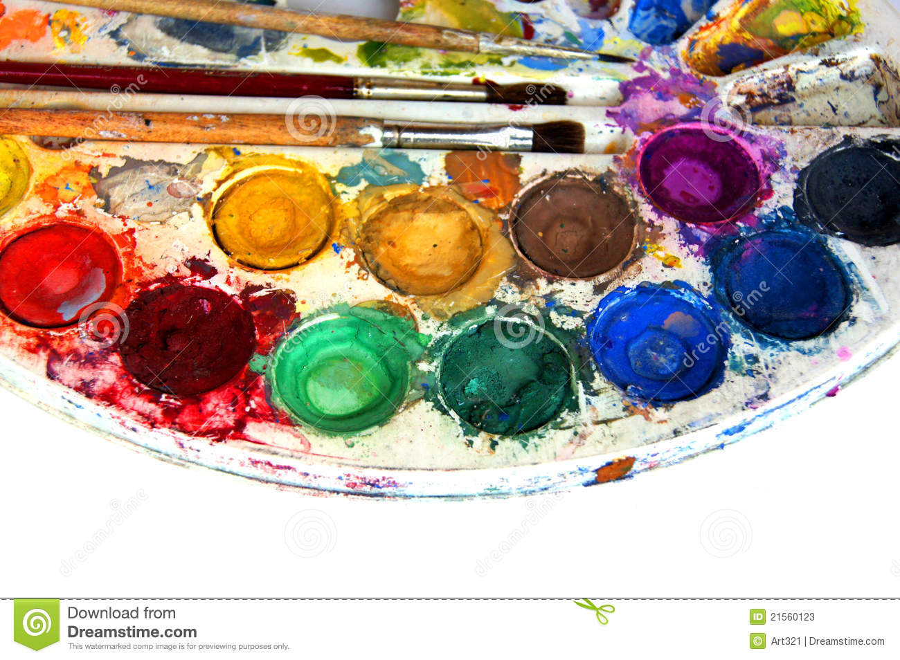 Free illustration watercolor pigment color free image - Royalty Free Stock Photo Download Water Color Paint Box
