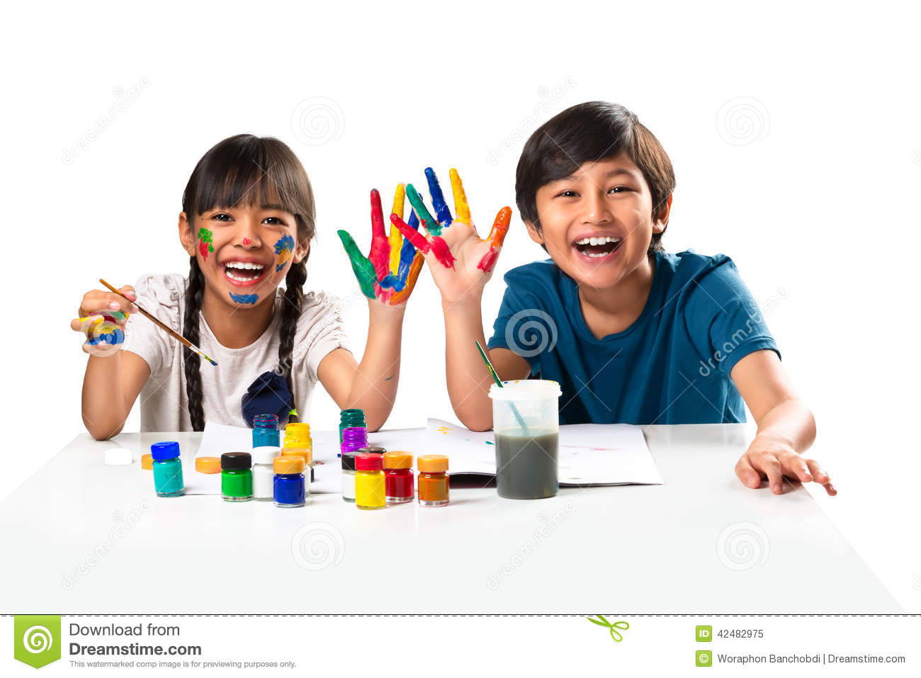 Download Water Color stock image. Image of happiness, learning - 42482975