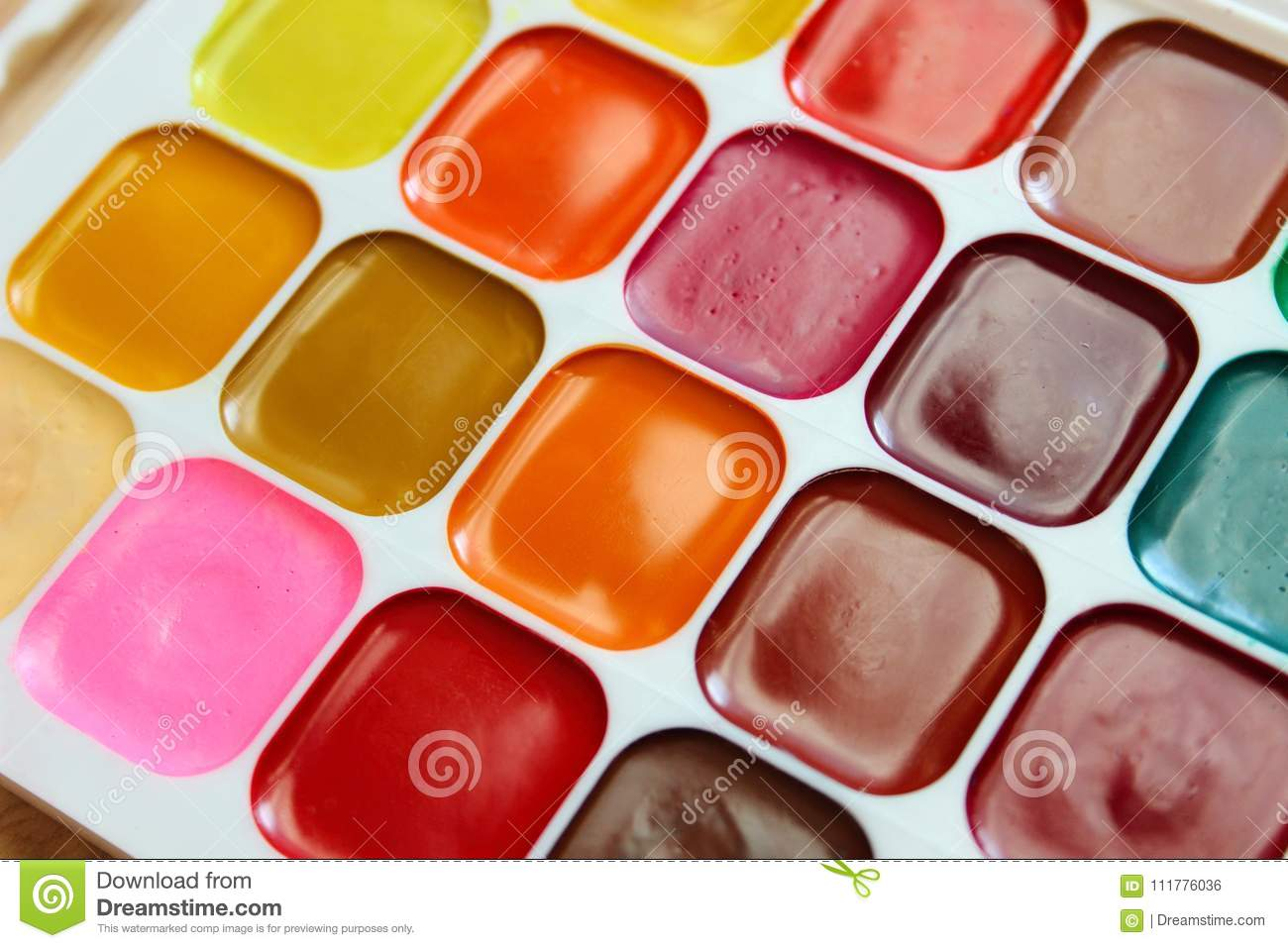 Water colors of different colors
