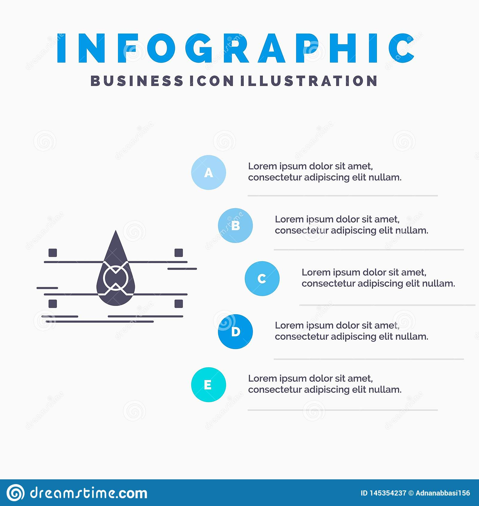 Water, Controle, Schoon, Veiligheid, het slimme Malplaatje van stadsinfographics voor Website en Presentatie GLyph Grijs pictogra