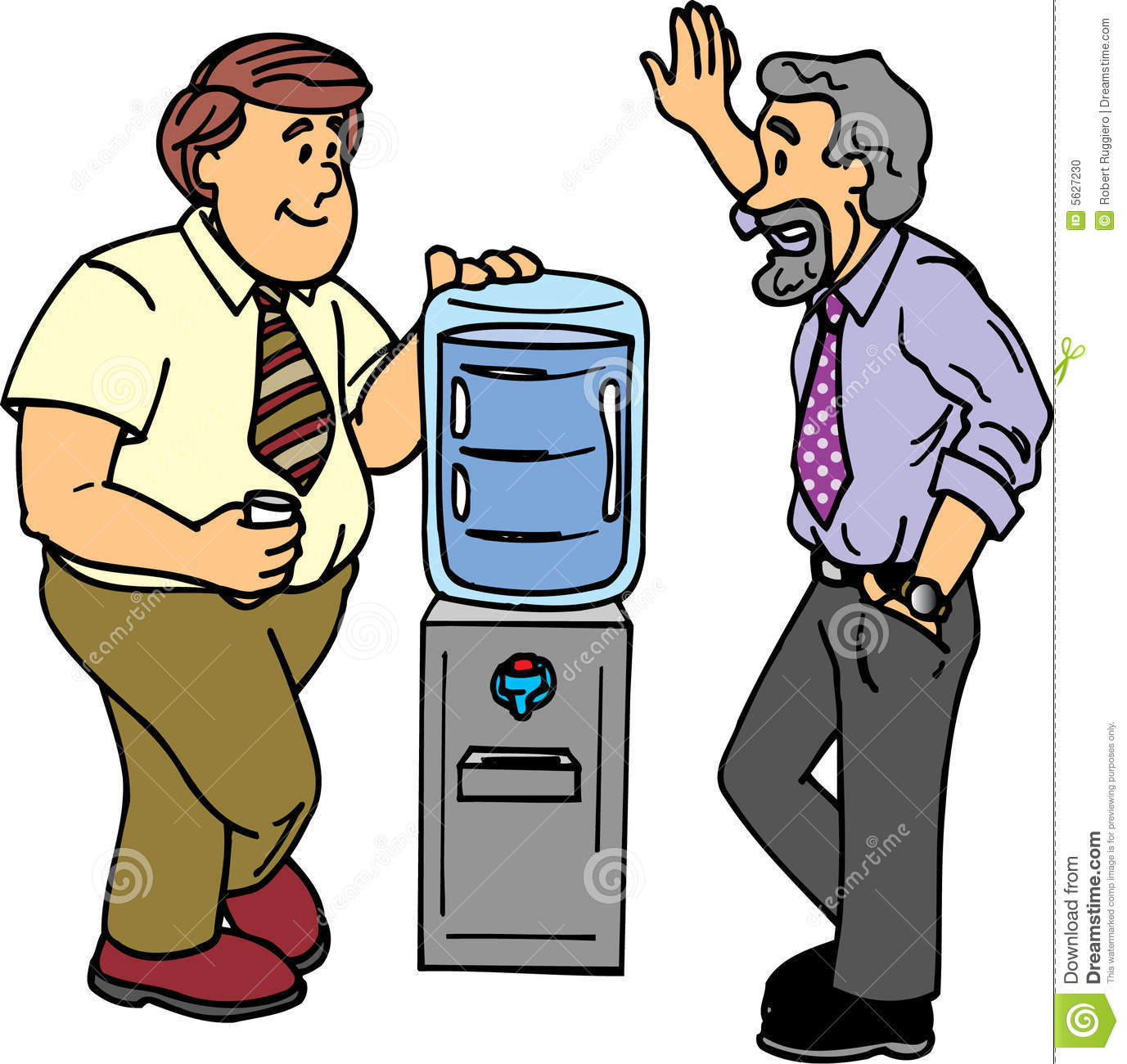 Water Cooler Chat Stock Photo - Image: 5627230
