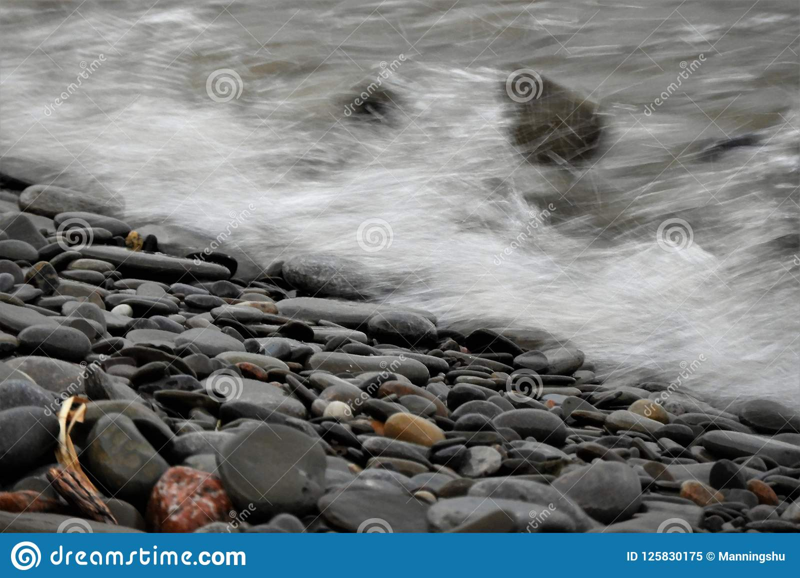 Water Crashing onto Shore After Storm