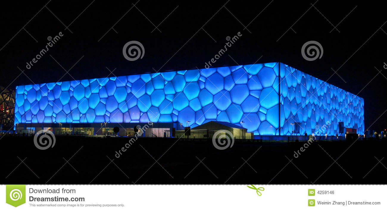 Water Cube in Chinese Spring Festival Eve 2