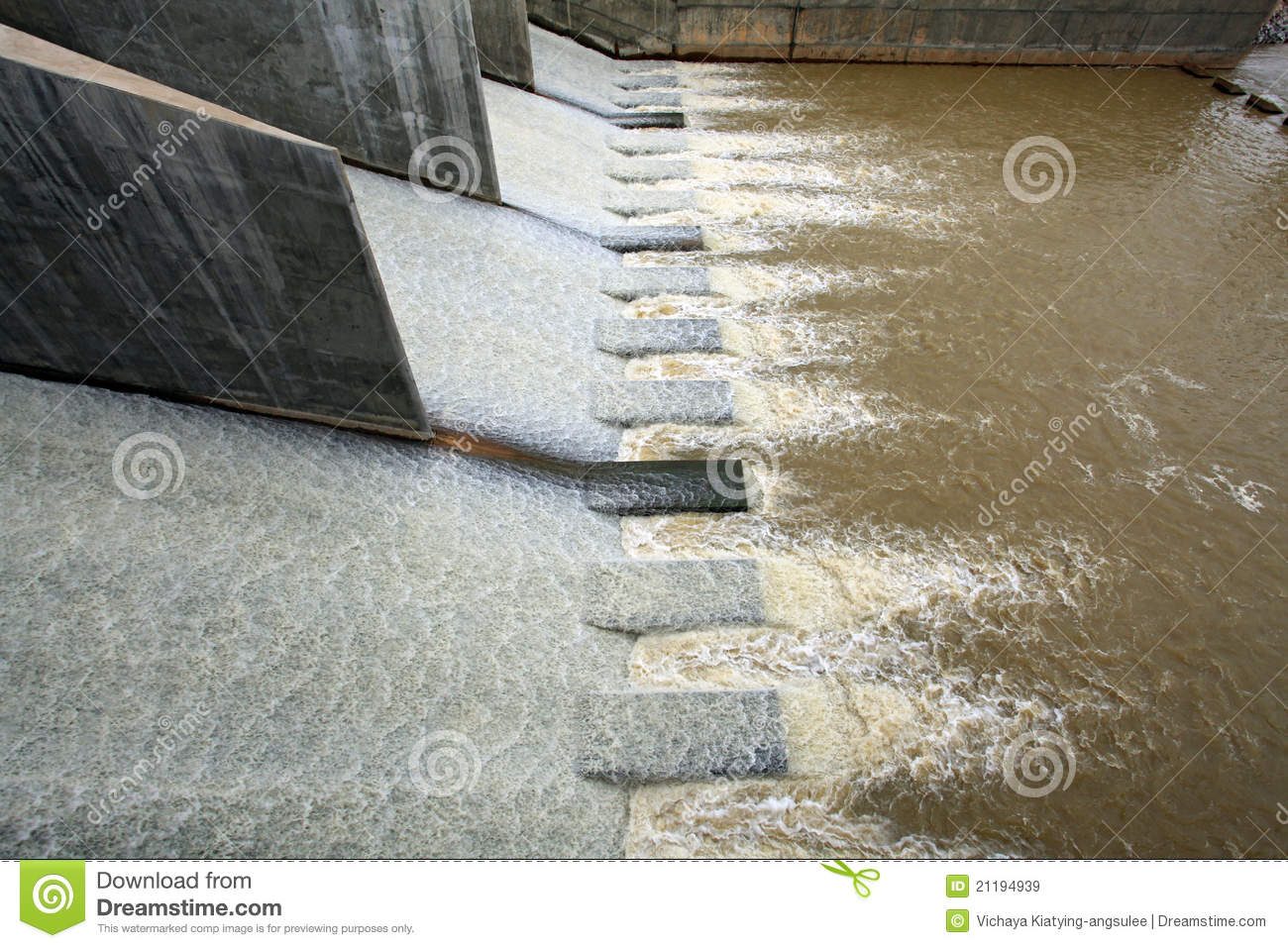 Water from dam