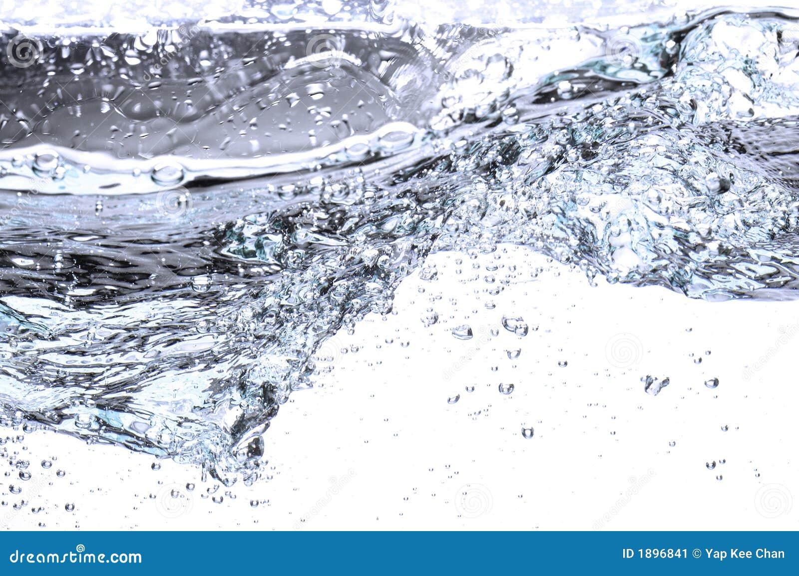 Water dat in tyrbulent stroomt