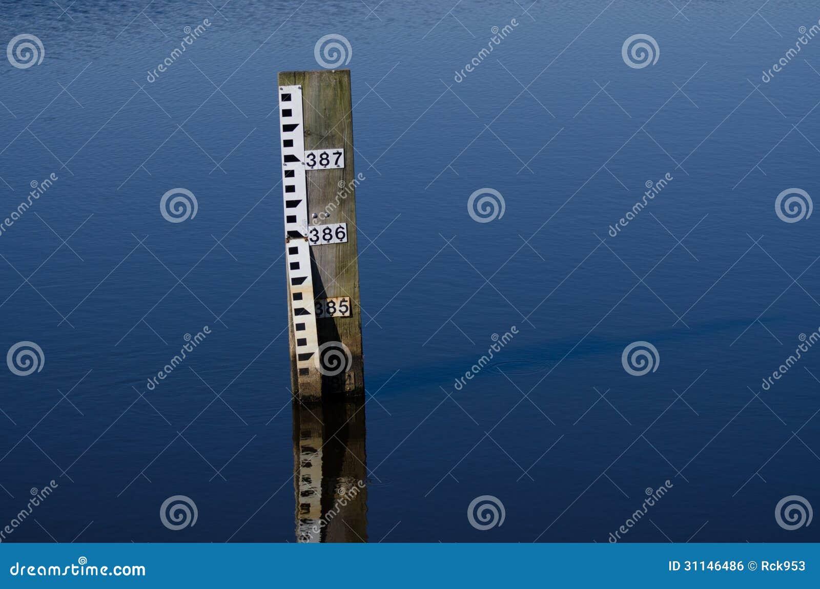 Water Depth Gauge Royalty Free Stock Image