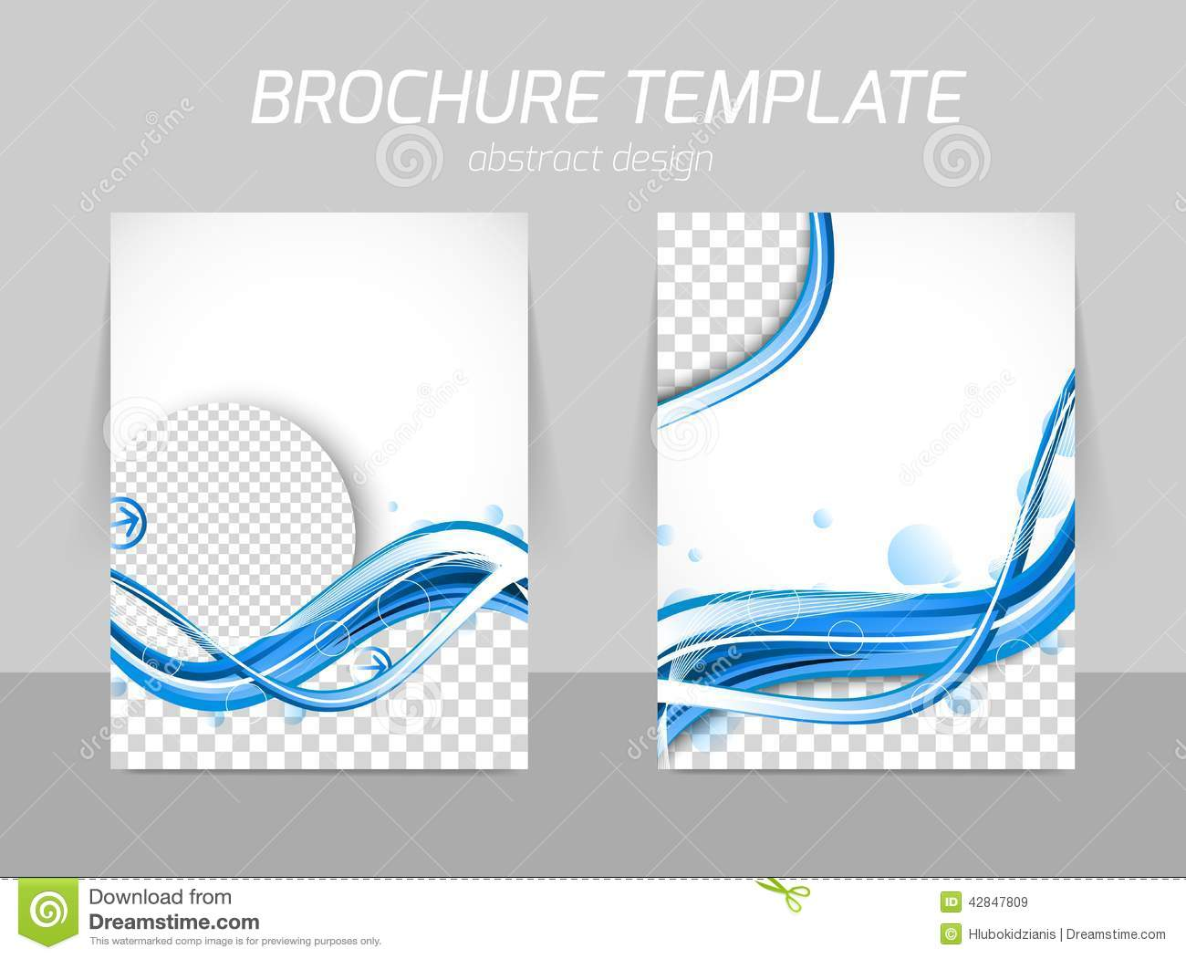Water design brochure stock vector image 42847809 for Water brochure template