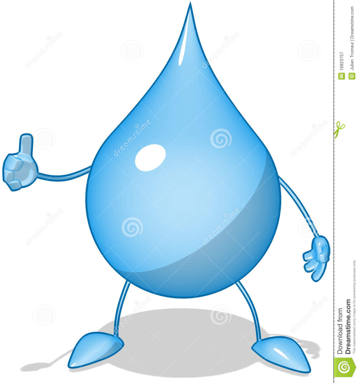 Water drop stock illustration  Illustration of concept - 16823757
