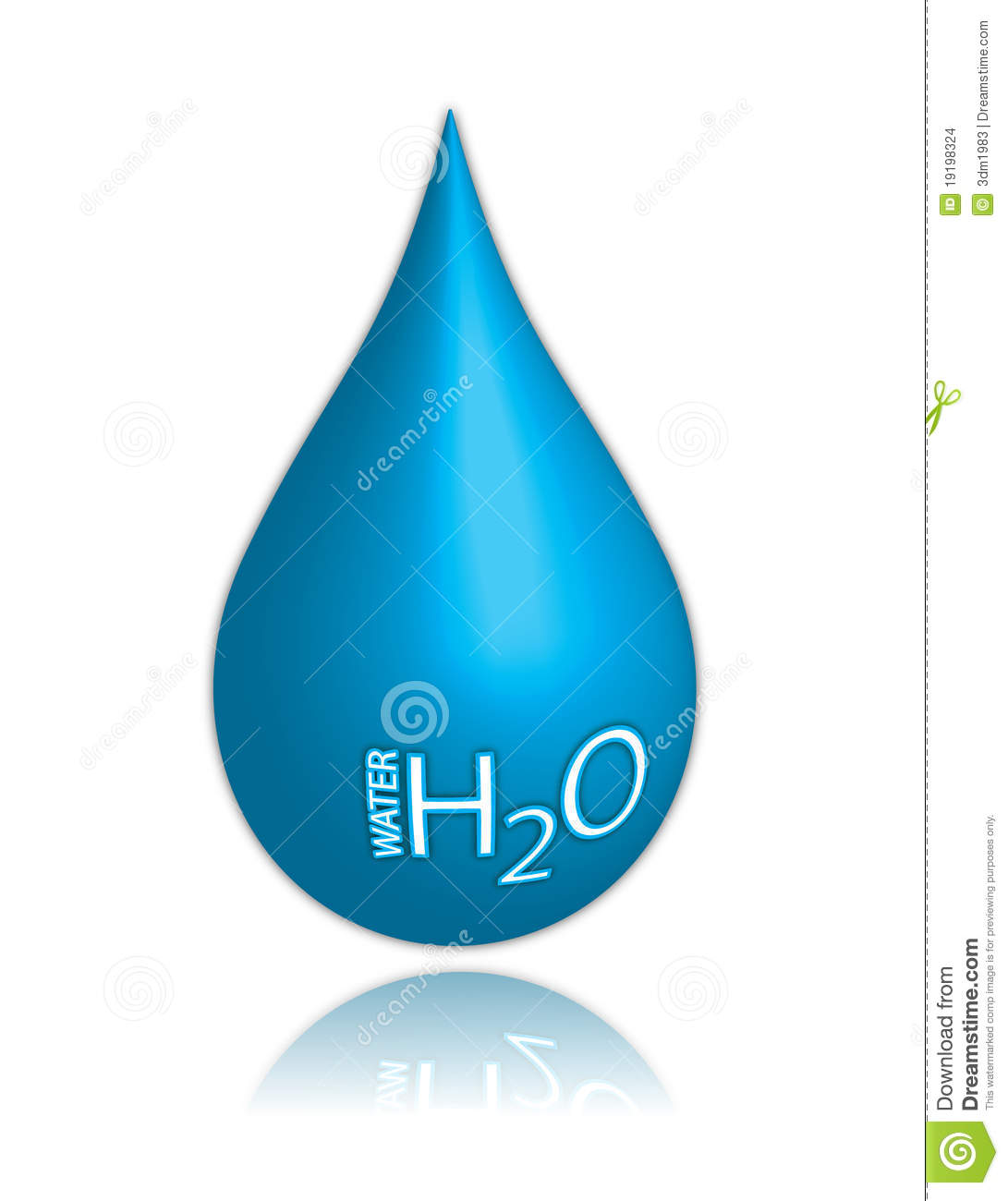 Water drop stock vector. Illustration of abstract ... H2o Water Drop