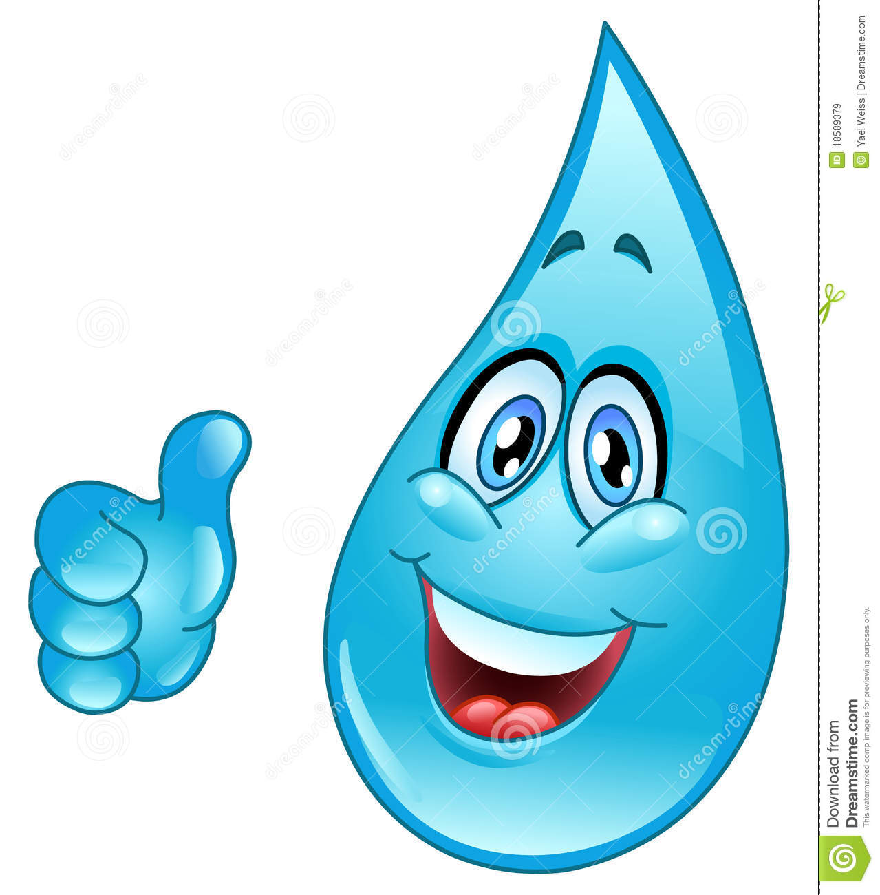 Water Drop Cartoon Royalty Free Stock Images Image 18589379 Drop Coloring Page