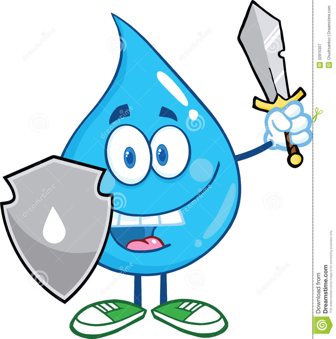 water drop cartoon mascot guarder with shield and sword water droplet clipart png water droplet clipart clear background