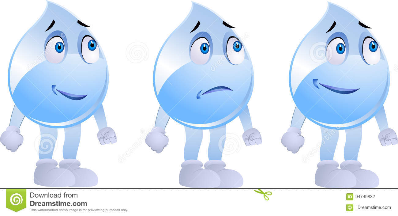 E Learning Cartoon Characters : Water drop character stock illustration illustration of pure