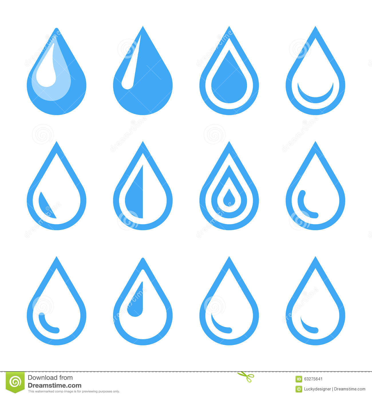 Water Droplet Logo Template Stock Vector - Image: 64789675