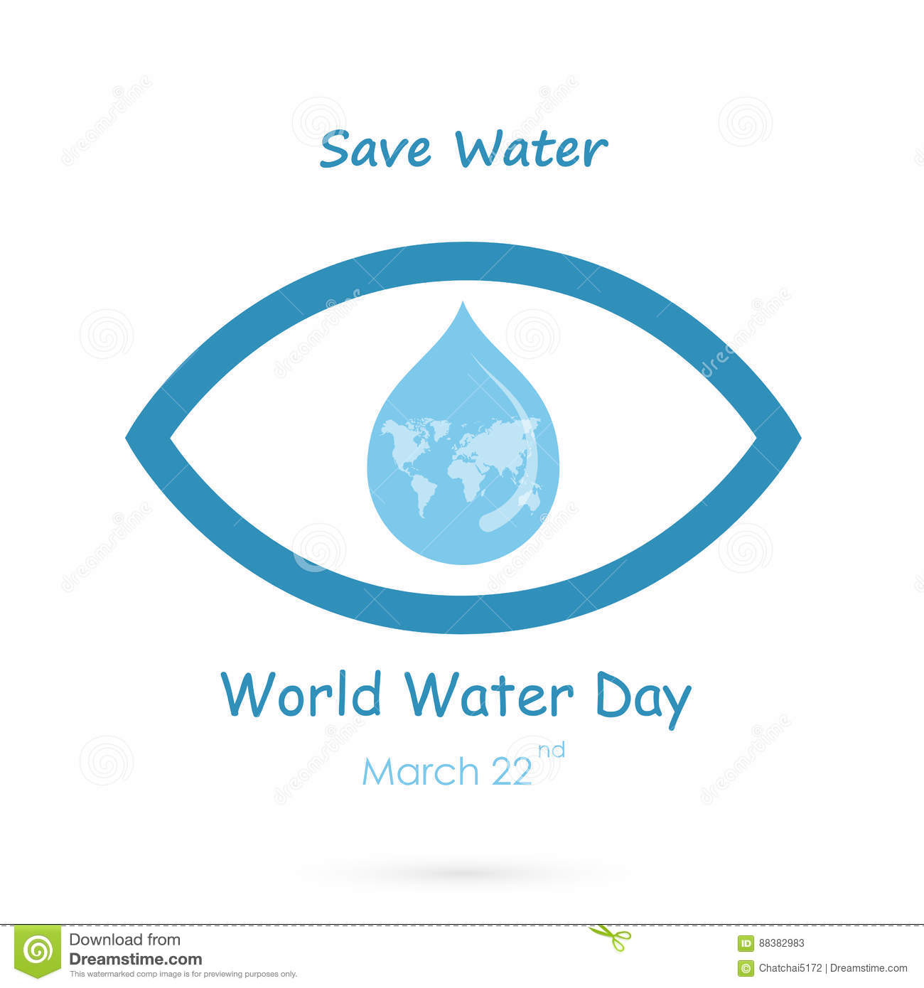 Water Drop With Human Eye Icon Vector Logo Design Template World