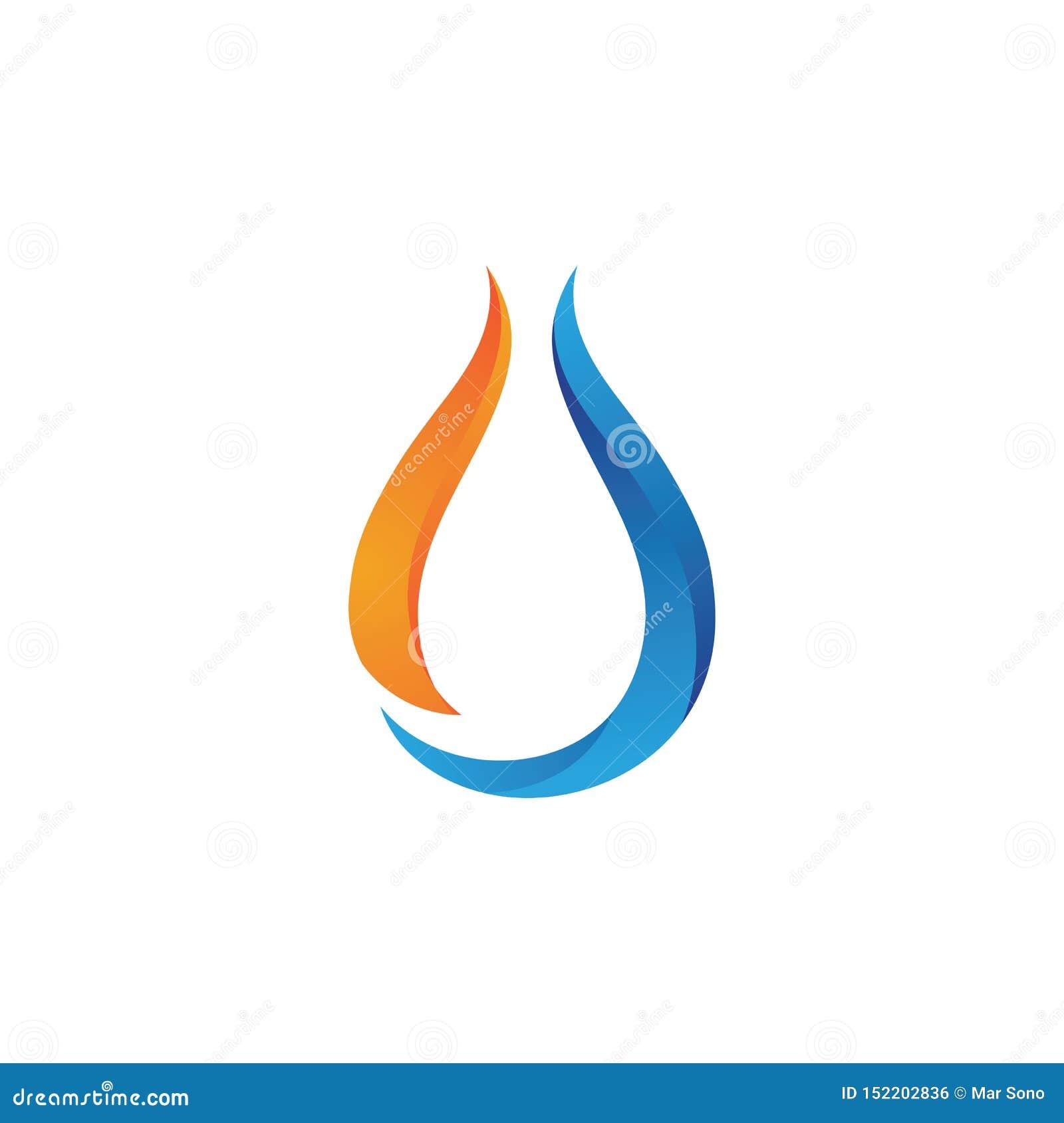 Water Drop Logo Template Vector Stock Vector