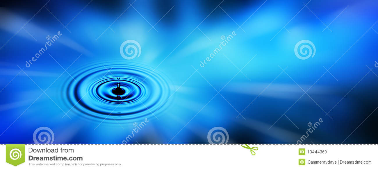 Water Drop Banner Business Background