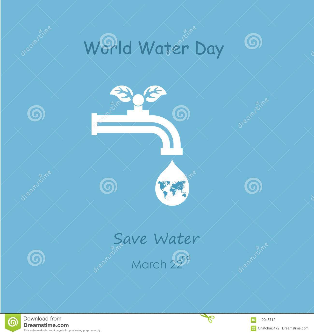 Water Drop And Water Tap Icon With Green Leaves Vector Logo Design