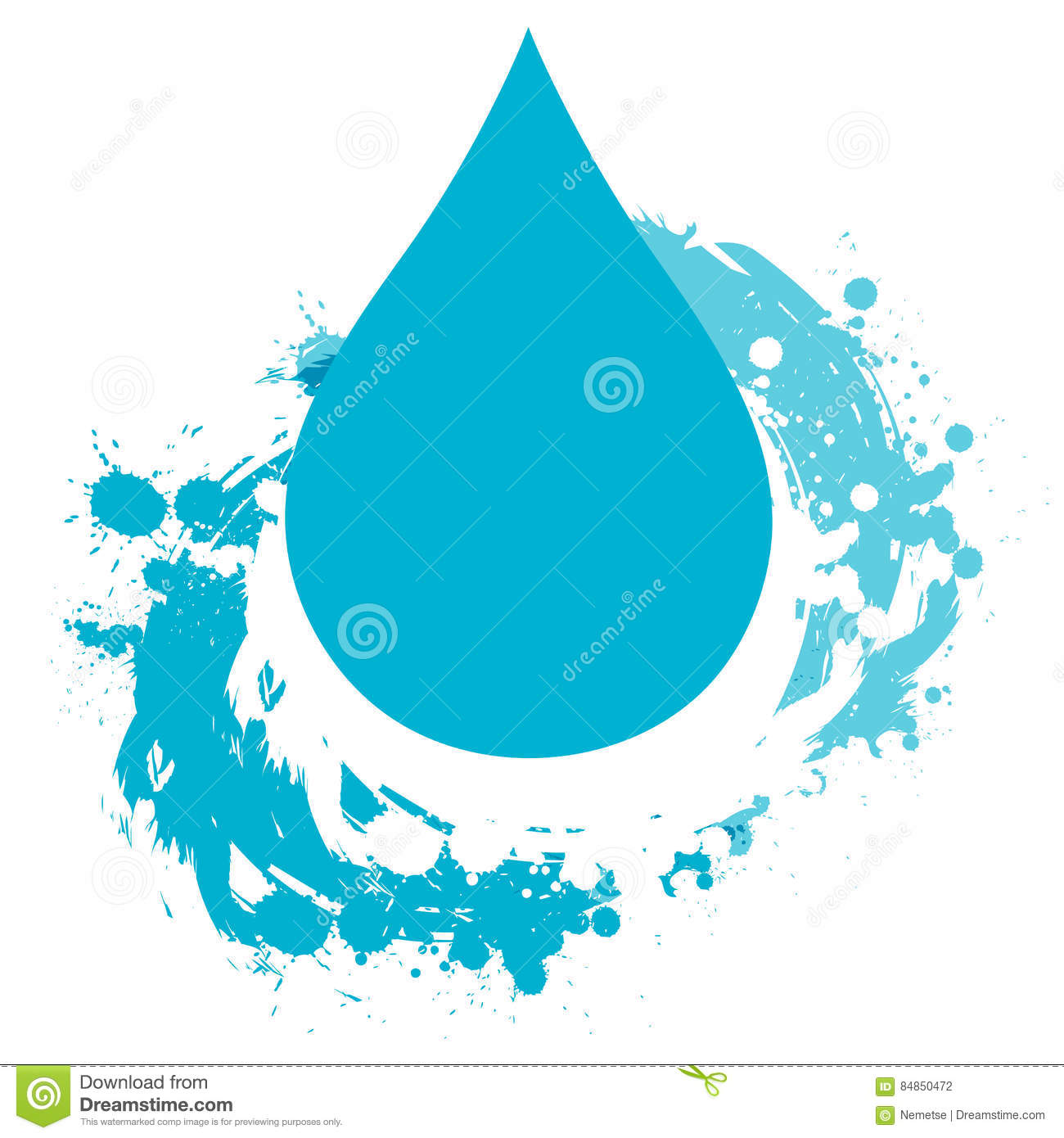 water drop template stock vector illustration of droplet 84850472