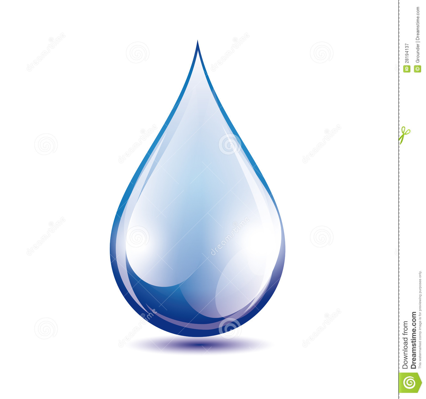 Water Drop Vector Royalty Free Stock Photography Image
