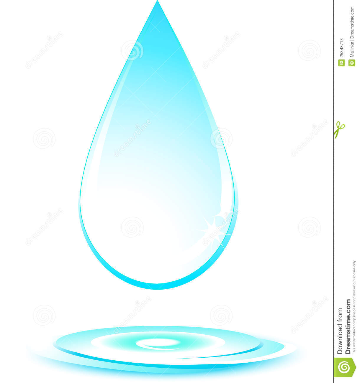 Water Drop On White Background Stock Photos - Image: 25348713