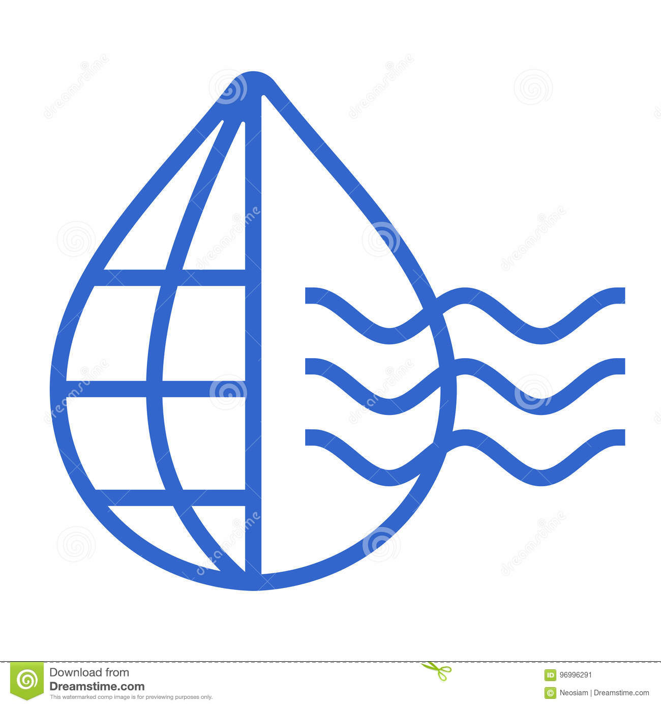 water drop with world icon logo template stock vector illustration