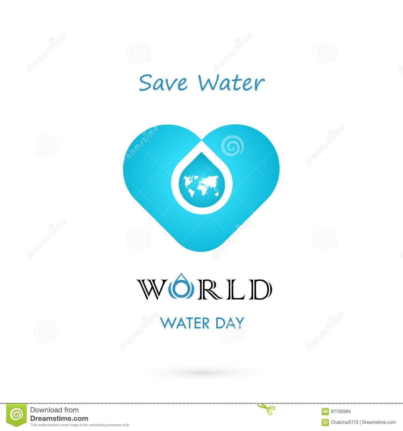 Water Drop With World Icon Vector Logo Design Template World Water
